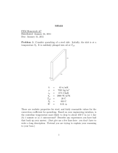 ME422 Problem 1: FEM Homework #7 Distributed: January 24, 2011
