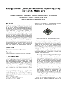 Energy Efficient Continuous Multimedia Processing Using the Tegra K1 Mobile SoC