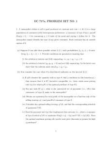 EC 717a, PROBLEM SET NO. 1