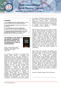 CSR International Book Review Digest JANUARY 2011 (volume 3, number 1)