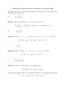 Mathematics 1220 Calculus II, Examination 2, Sep 25,27, 2003