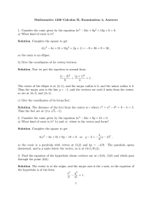 Mathematics 1220 Calculus II, Examination 4, Answers − 24x + 9y