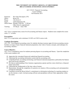 finance 3504 syllabus fall 2014