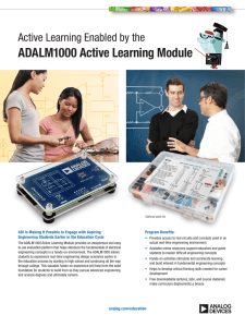 ADALM1000 Active Learning Module Active Learning Enabled by the