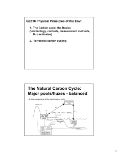 GE510 Physical Principles of the Envt