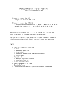 Math2210 Midterm 1 Review Problems Rebecca Noonan Heale