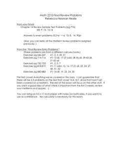 Math 2210 Final Review Problems Rebecca Noonan Heale