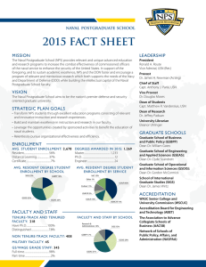 2015 FACT SHEET MISSION LEADERSHIP