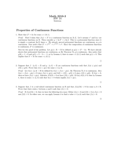 Math 3210-3 HW 16 Properties of Continuous Functions