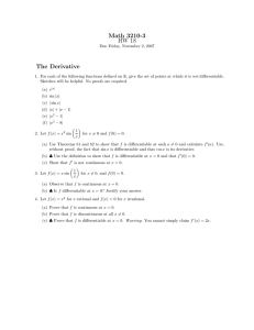Math 3210-3 HW 18 The Derivative