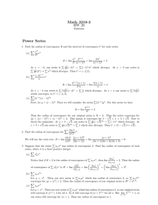 Math 3210-3 HW 26 Power Series