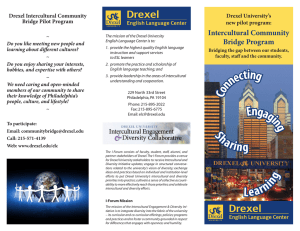 Intercultural Community Bridge Program Drexel Intercultural Community Drexel University's