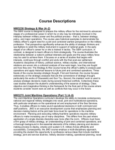 Course Descriptions NW3230 Strategy & War (4–2)