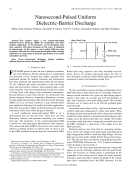Nanosecond-Pulsed Uniform Dielectric-Barrier Discharge