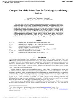Computation of the Safety Fans for Multistage Aerodelivery Systems