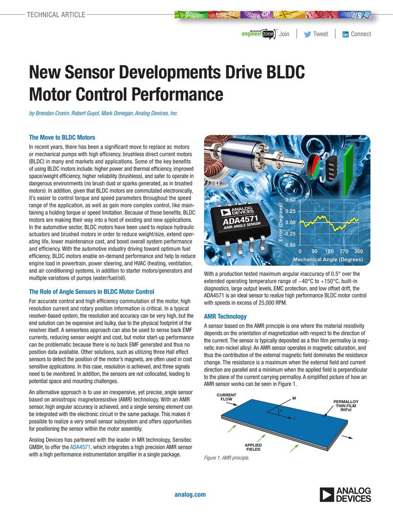 New Sensor Developments Drive BLDC Motor Control Performance  