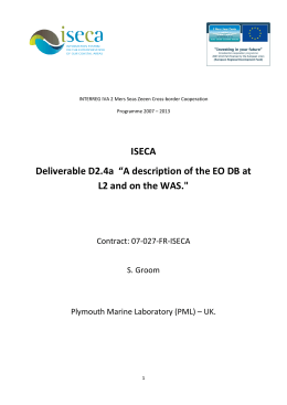 "ISECA Deliverable D2.4a  ""A description of the EO DB at"