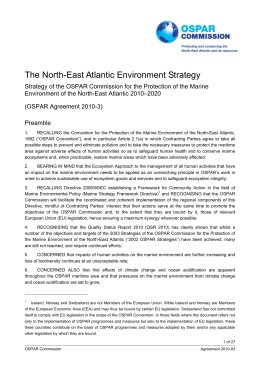 The North-East Atlantic Environment Strategy