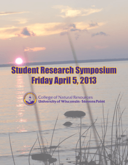Student Research Symposium Friday April 5, 2013