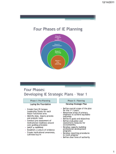 Four Phases of IE Planning Four Phases: 12/14/2011