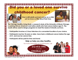 Did you or a loved one survive  childhood cancer?