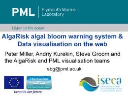 iseca AlgaRisk algal  bloom warning system &