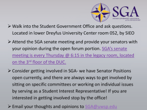  Walk into the Student Government Office and ask questions.