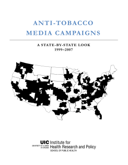 ANTI-TOBACCO MEDIA CAMPAIGNS  A STATE-BY-STATE LOOK