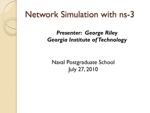Network Simulation with ns-3