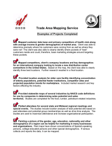 Trade Area Mapping Service  Examples of Projects Completed