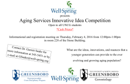 Aging Services Innovative Idea Competition