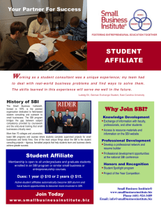 W STUDENT AFFILIATE Your Partner For Success