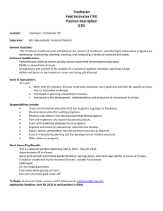 Treehaven Field Instructor (TFI) Position Description (LTE)