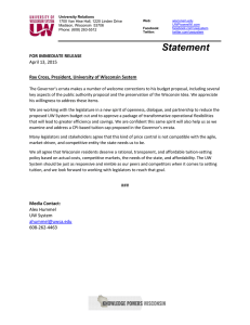Statement  April 13, 2015 FOR IMMEDIATE RELEASE