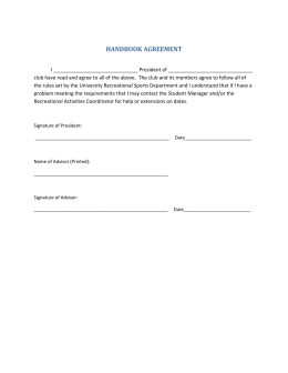 HANDBOOK AGREEMENT