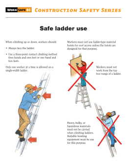 Safe ladder use Construction Safety Series