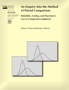An Enquiry Into the Method of Paired Comparison: Reliability, Scaling, and Thurstone's
