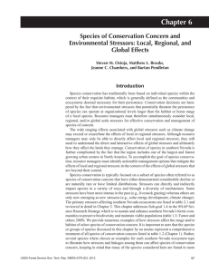 Chapter 6 Species of Conservation Concern and Environmental Stressors: Local, Regional, and