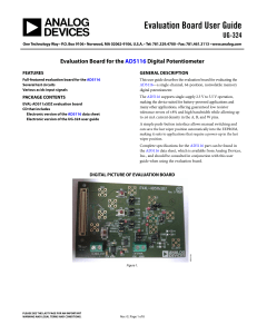 Evaluation Board User Guide UG-324