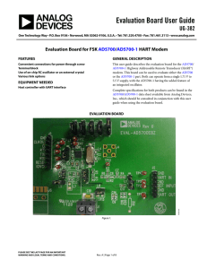 Evaluation Board User Guide UG-382