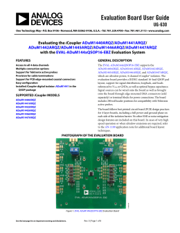 Evaluation Board User Guide UG-630