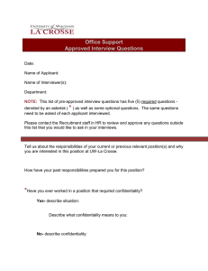 Office Support Approved Interview Questions
