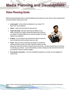 Video Planning Guide