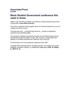 Black Student Government conference this week in Ames  Associated Press