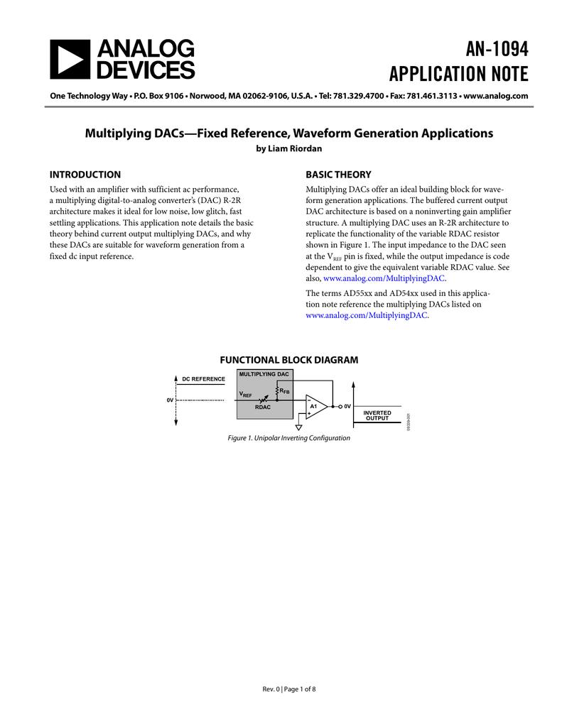 An 1094 Application Note R 2r Ladder Dac Circuit Diagram