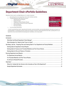 Department Chair ePorfolio Guidelines