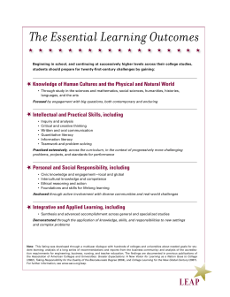 The Essential Learning Outcomes