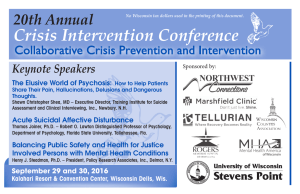 Crisis Intervention Conference 20th Annual Collaborative Crisis Prevention and Intervention Keynote Speakers