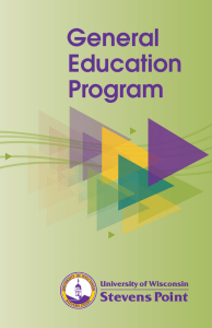 General Education Program Stevens Point