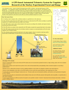 A GPS-based Automated Telemetry System for Ungulate
